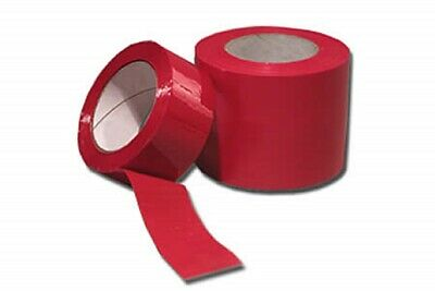 NEW 36 RollS Of  STRONG RED COLOURED Packing Parcel Tape 50mmx66m,HIGH QUALITY