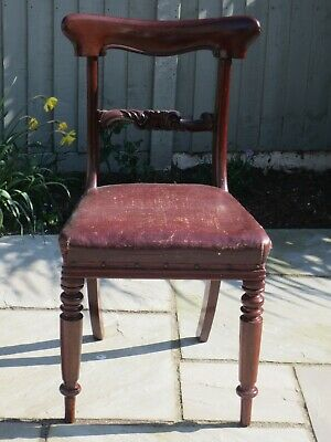 4 Lovely Antique Victorian mahogany Dining Chairs.