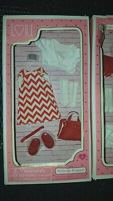 "PERFECTLY PRINTED outfit  for Our Generation Lori 6"" doll NIB shoes  purse"