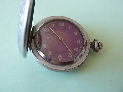 Vintage rare antique Russian MOLNIA Pocket Watch USSR 1970's cal.3602 18 jewels