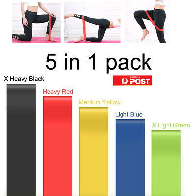 Quality Resistance Bands For GYM Fitness Strength Yoga Exercise 5 In One Pack