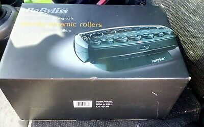 Babyliss Thermo Ceramic Fast Curl Heated Rollers-3034U + Clips In Box Used Once