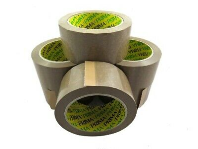 36 X NEW Rolls BROWN VINYL PVC PACKING TAPE 48mm x 66M - PRIMA BRANDED *24HRS*