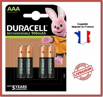 Piles Rechargeables AAA HR03 LR03 900 mAh Duracell Ultra Accus Batteries X4