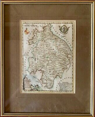 WARWICKSHIRE  BY THOMAS KITCHIN GENUINE ANTIQUE ENGRAVED MAP approx 1769. FRAMED