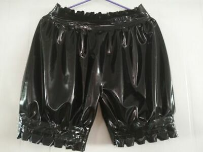 100% Latex Underwear Rubber Gummi Ruffle Black Boxer Underwear Men Size S-XXL