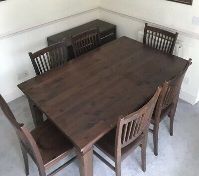 Dining table and 6 chairs made with mahogany