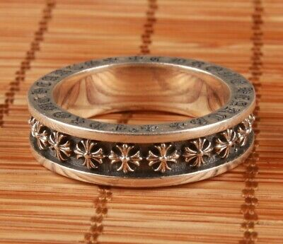 China Solid Silver Hand Carving Christian Cross Ring Spiritual High-End  Gift