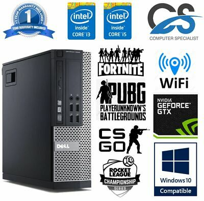 Cheap Gaming PC Dell Optiplex Quad i5 8GB Ram 1TB SSD Nvidia Geforce 1030 KIDS