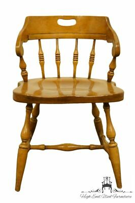DREXEL HERITAGE Solid Hard Rock Maple Colonial Style Dining Side / Pub Chair ...