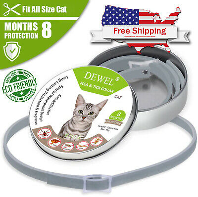 Cat Flea and Tick Protection Collar all Weight cats 8 Month Approved Treatment