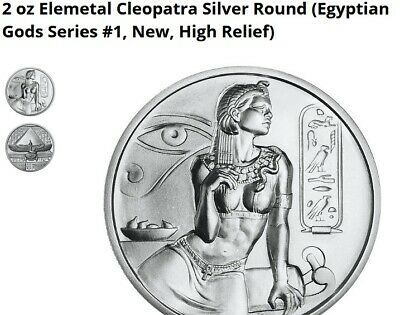 Cleopatra 2 ounce Silver Coin from Egyptian gods Series