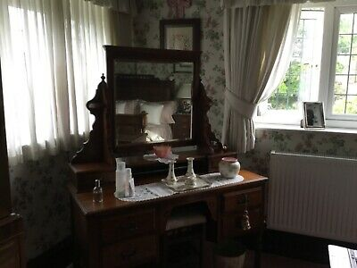 Antiques Victorian walnut dressing table
