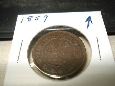 1859 - Canada 1 cent - Canadian penny -