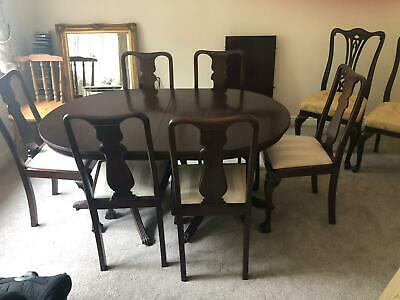 Reproduction mahogany Dining room table with 8 chairs