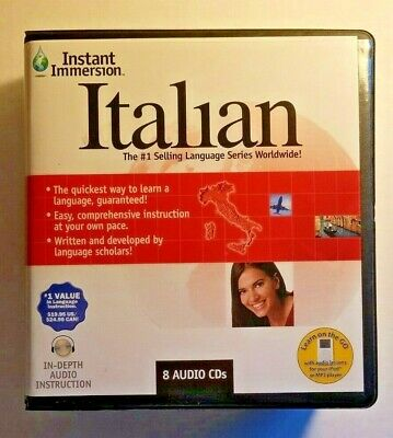 Instant Immersion Learn To Speak German Chinese Italian English Box Japanese