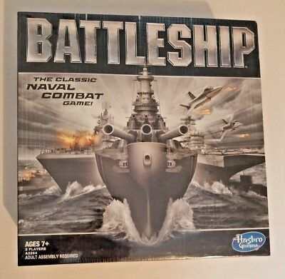 Battleship Board Game Classic Naval Combat Strategy Hasbro Gaming Challenge New