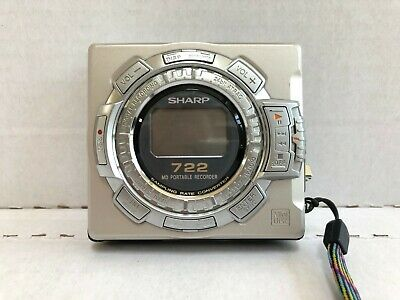 Sharp MD-MS722 Portable MiniDisc Recorder / Player With Charger