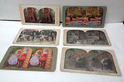 6 Vintage Late 19th/Early 20th Century Stereoscope Cards LOT! Black Americana!