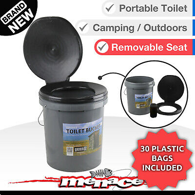 20L Toilet BUCKET Portable Outdoor Box Thunder Boom Travel Camping Bush Dunny