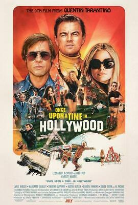 "ONCE UPON A TIME IN HOLLYWOOD 27""x40"" Original Movie Poster One Sheet Tarantino"