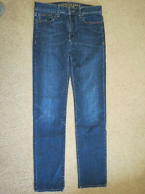 American Eagle Outfitters Extreme Flex orig straight denim blue jeans 30-32 x 35