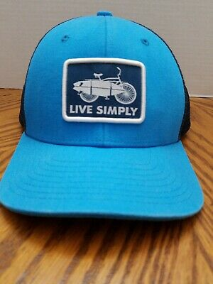 97036fd7a PATAGONIA LIVE SIMPLY Guitar Roger That Hat Cap Snapback Blue ...