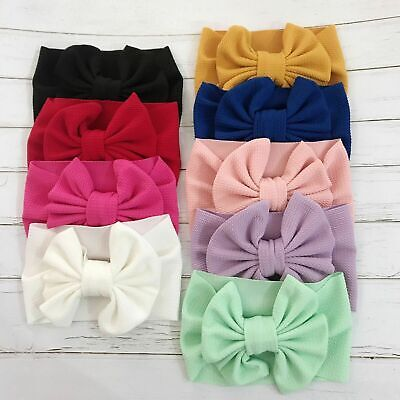 Fashion Baby Girls Toddler Bow Knot Hairband Headband Stretch Turban Headwear