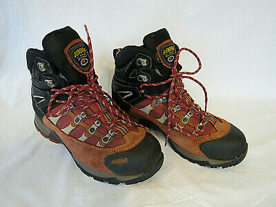 de2d7e964a3 WOMEN ASOLO BROWN Leather Gore-Tex TPS 520 GTX Vibram Lace Up Hiking ...