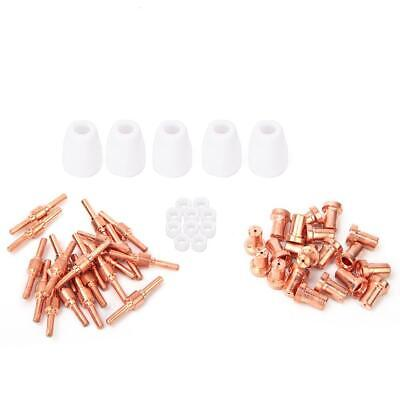 55pc PT31 LG40 Plasma Cutter Torch Electrode Tip Nozzle Cup Consumable Accessory
