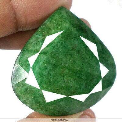 293 Ct+ Natural Green Emerald From Brazil Pear Faceted Huge Earth mined Gemstone