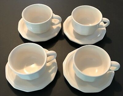 Pfaltzgraff Heritage White Set 4 Tea Cup And Saucer