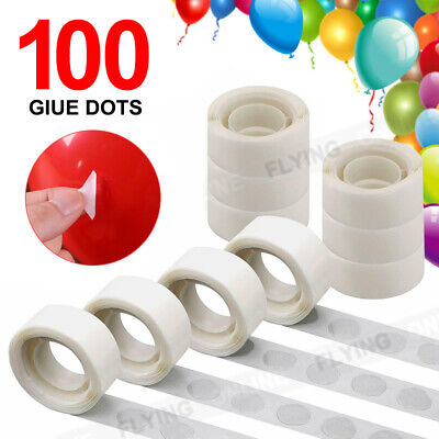 100x Balloon Glue Dots Adhesive Removable Double Tape Party Scrapbooking Wedding