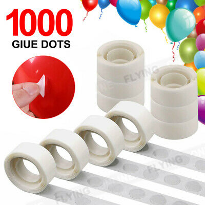 1000x Balloon Glue Dots Photo Adhesive Bostik Party Double tape Scrapbooking