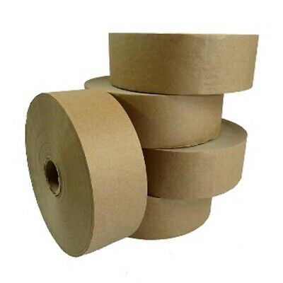 6 NEW ROLL OF PLAIN STRONG GUMMED PAPER WATER ACTIVATED TAPE 48mm x 200M, 60GSM