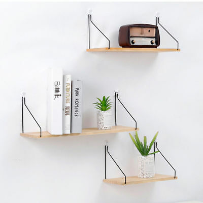 Industrial Retro Wall Pipe Shelf Shelves Storage Hanging Holder DIY Home Decor