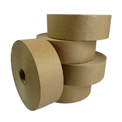 120 NEW ROLL OF PLAIN STRONG GUMMED PAPER WATER ACTIVATED TAPE 48mm x 200M,60GSM