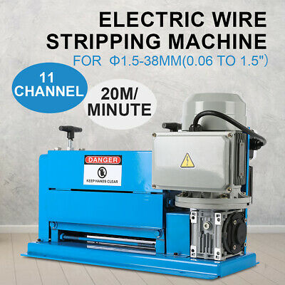 Electric Wire Stripping Machine 370W Cable Stripper Φ1.5mm ~ 38mm Copper Recycle