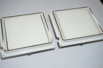 Pair of Sanyo Flat 6 Ohm Speaker Drivers White SX-W07 717810 S12K65 Mid Woofer
