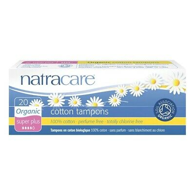 NATRACARE - Organic All Cotton Tampons Super Plus - 20 Tampons