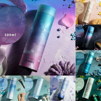500ML Water Bottle Vacuum Insulated Flask Thermal Sport Gym Cold Drink Cups