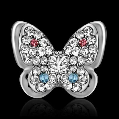 Fashion Butterfly Insect Crystal Rhinestone Collar Brooch Pin Women Jewellery