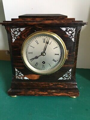 Fusee Coromandel Wood Mantle Clock