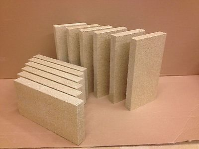 REPLACEMENT FIREBRICK FOR STOVES X 6  INCLUDING VILLAGER MORSO fits most stoves