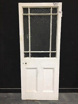 Beautiful large reclaimed victorian antique glazed door.
