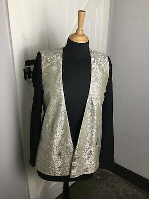 River Island Long Open Black & Gold Jacket. Size 8UK. Ex Cond.