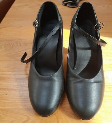 So Danca Black New Yorker style CH53 Character/Dance shoes size M7L. UK size 4