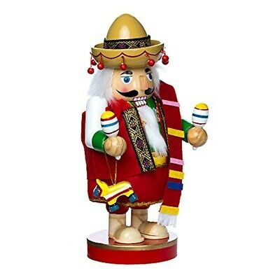 Kurt Adler 10.25-Inch Mexican Nutcracker Tablepiece - Chubby Collection J1410