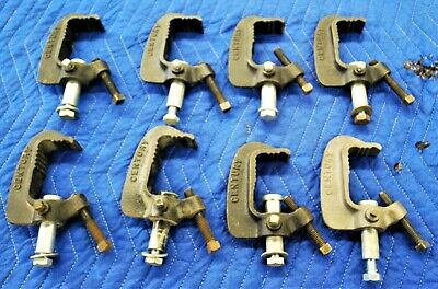 8 Cast Iron C Clamps For Lighting-Heavy Duty Industrial Grade-Century-3 Of 10