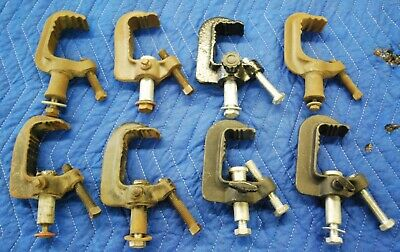 8 Cast Iron C Clamps For Lighting-Heavy Duty Industrial Grade-8 Of 10
